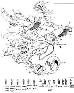 CRAFTSMAN Tractor Schematic diagram tractor Parts Model