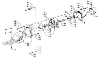 Parts Diagram for 1996 DAYTONA 770 WATERCRAFT EXHAUST ASSEMBLY