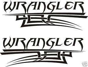 Jeep Wrangler Renegade Windshield & Hood Decal Set (White