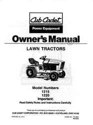 IH CUB CADET MODEL 282 INTERNATIONAL TRACTOR PARTSLIST