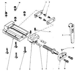 CRAFTSMAN 101.07383 Metal Lathe Parts Manual