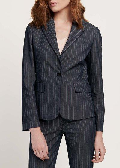 Giacca modello Cindy stampa denim gessata - Denim\rosa Stripes - Immagine categoria