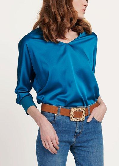T-shirt Sharan in viscosa - Marina - Immagine categoria