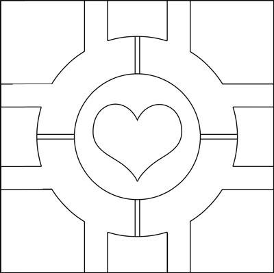 Companion Cube pattern by Eyespiral-stock on DeviantArt