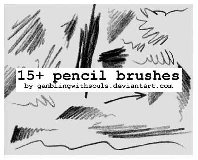 15+ Pencil Brushes by gamblingwithsouls on DeviantArt
