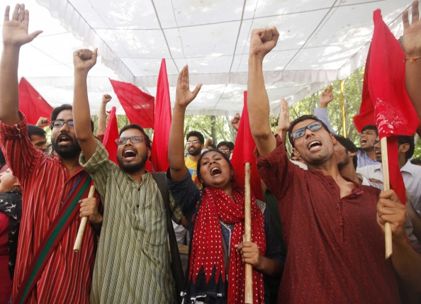Left-Backed AISA Sweeps JNU Students Union Polls
