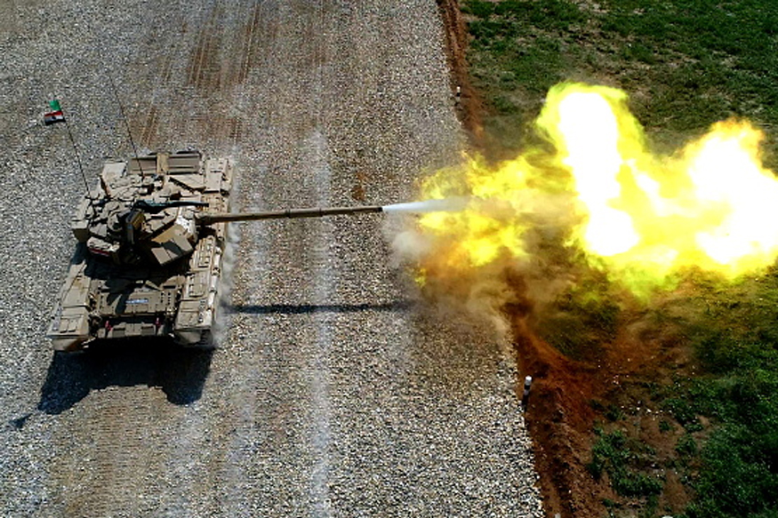 Indian tank t90s