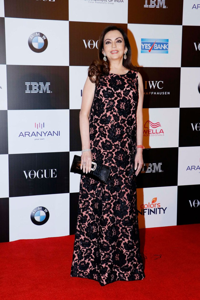 Nita Ambani attends the 'Vogue Women of the Year Awards 2017' at Grand Hyatt Hotel On Sunday, September 24, 2017 in Mumbai. (Image: Yogen Shah)