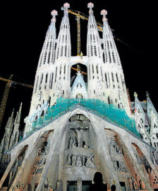 The passion facade of Sagrada Familia photo