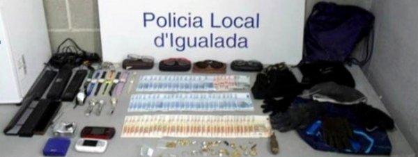 Dos detinguts a Igualada per un delicte de robatori amb força a l'interior d'un domicili i per emportar-se 2.600 euros