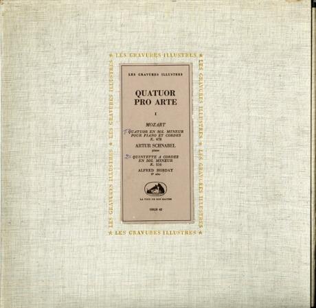 FR VSM COLH42 プロ・アルテSQ&シュナーベル モーツァルト・ピアノ四重奏曲