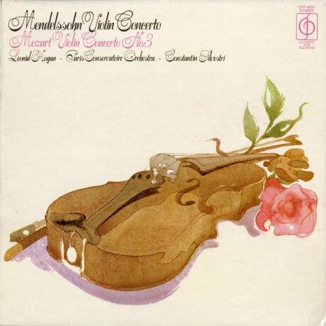 GB EMI CFP40031 コーガン&シルベストリ メンデルスゾーン/モーツァルト・ヴァイオリン協奏曲