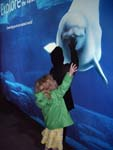 Kennedy at the Vancouver Aquarium entrance