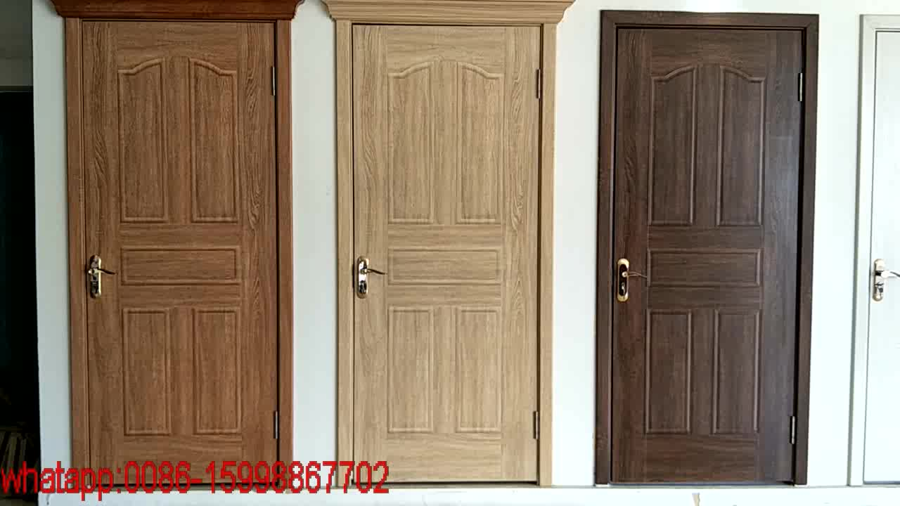 Fashion Design Simple Decorative Interior Wood Doors