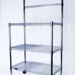 Kitchen Storage Racks Nice Tables 置物架 Cj-b1003 不锈钢微波炉架/厨房杂物架/储物架报价/最低价_易购频道