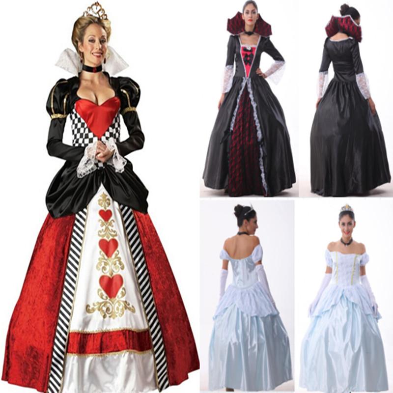 歐洲宮廷復古女王裝貴族角色扮演服飾萬聖節舞會裝扮表演服晚宴服 - 淘寶網