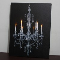 LED Lighted Canvas Chandelier Artprint Wall Art Home Decor ...