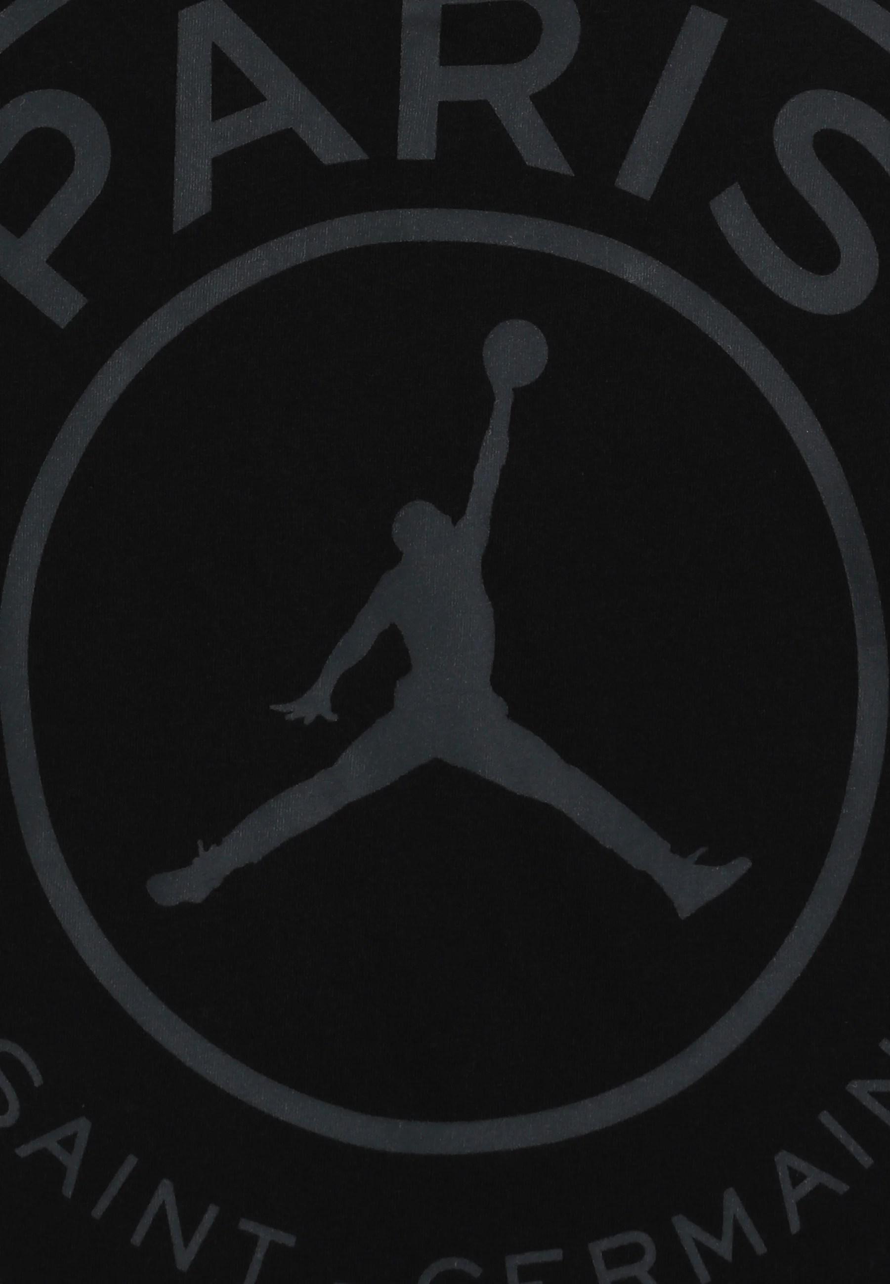 psg logo tee t shirt print black