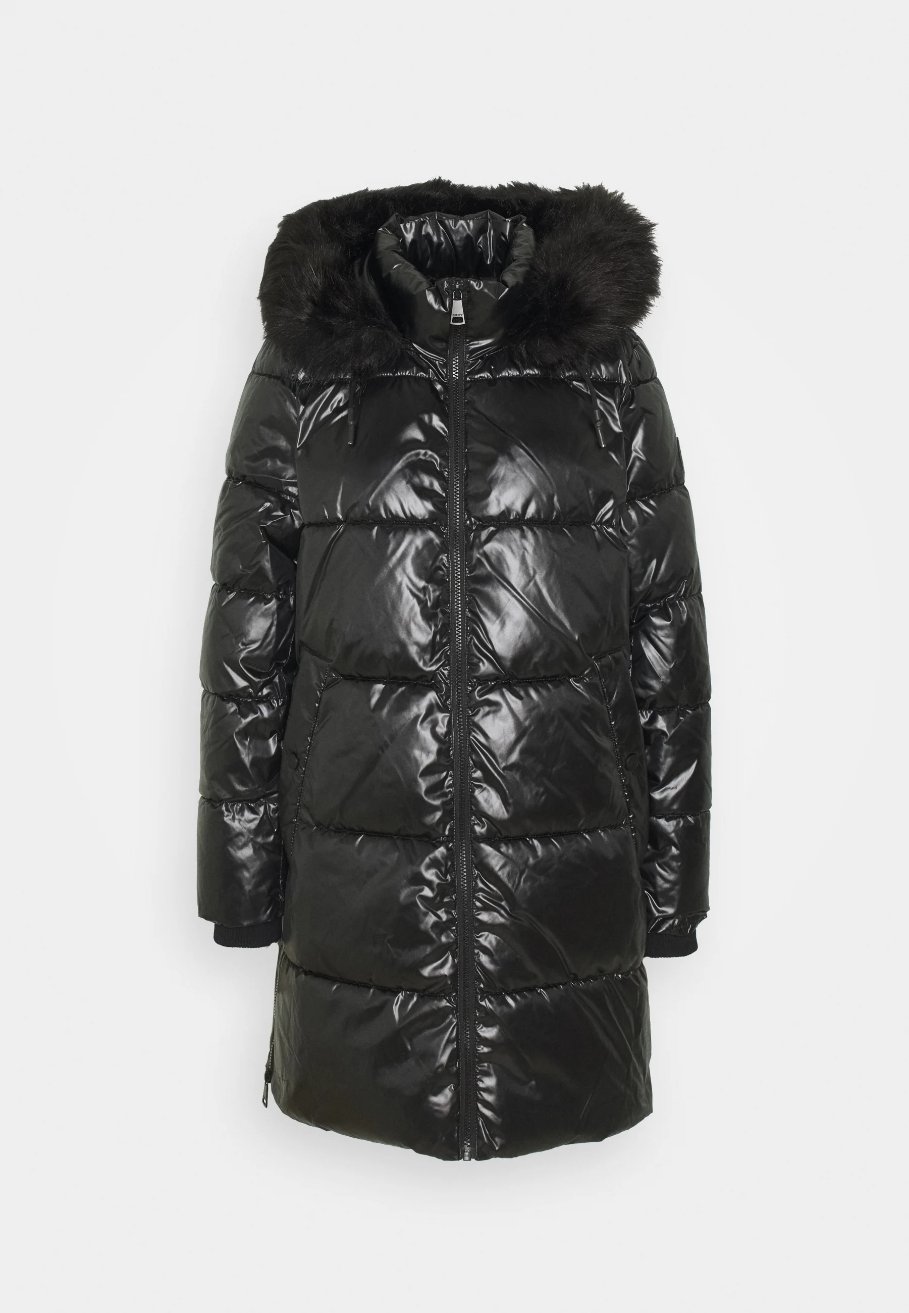 dkny long shiny puffer winter coat