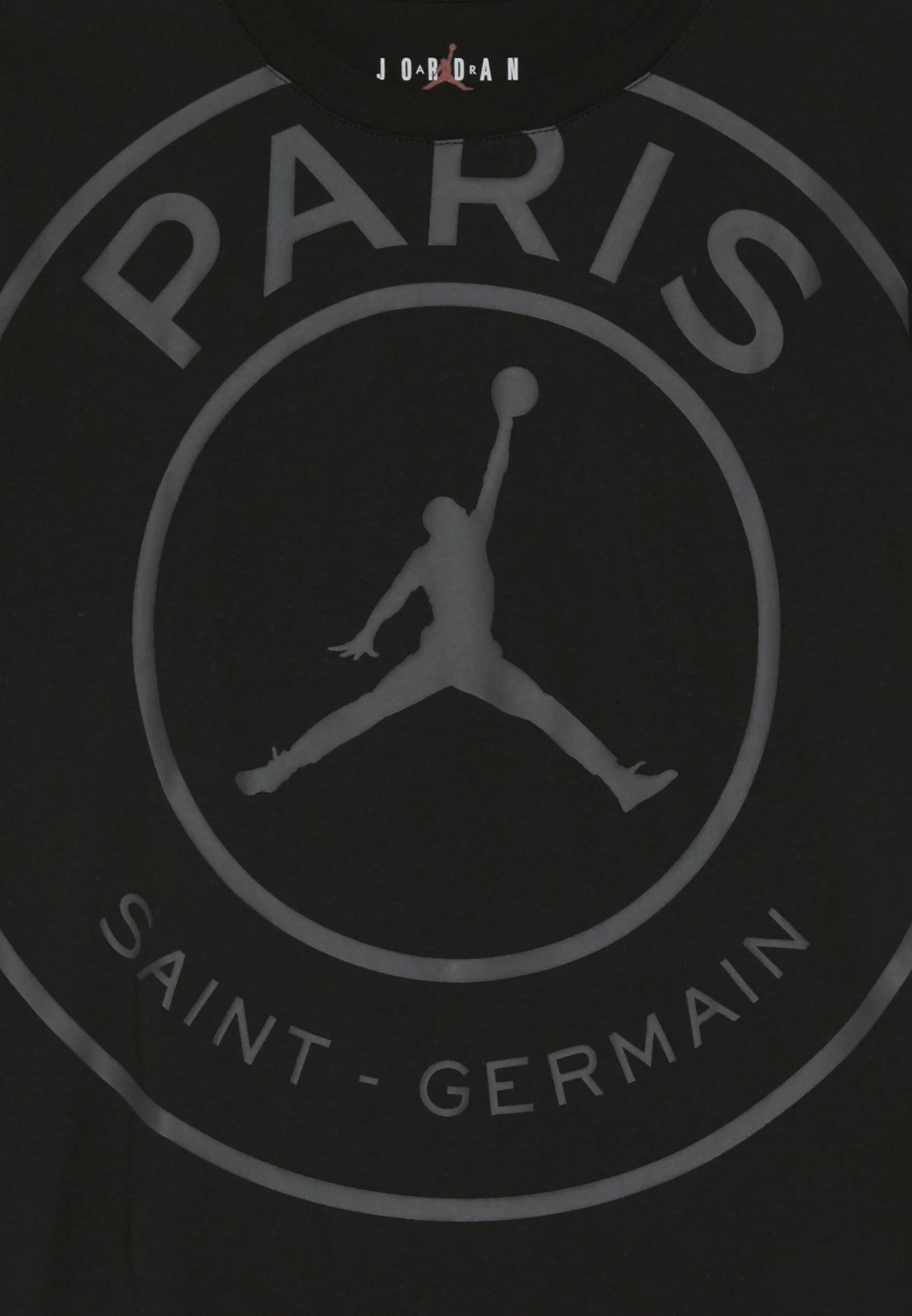 psg logo tee vereinsmannschaften black