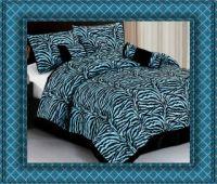 New Brown Leopard Zebra Animal Print Safari Comforter Set ...