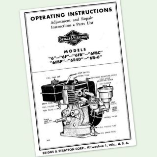 BRIGGS AND STRATTON 3hp ENGINE 81900 to 81996 OPERATING MANUAL