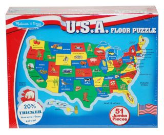 Melissa amp Doug USA Map 51 pcs Floor Puzzle