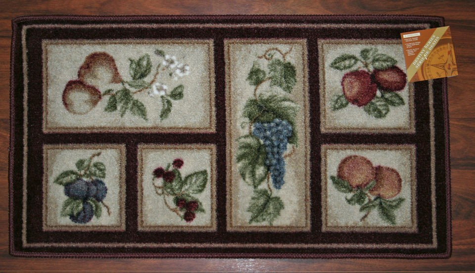 2x3 kitchen rug outside designs mat burgundy washable mats rugs fruit grapes pears