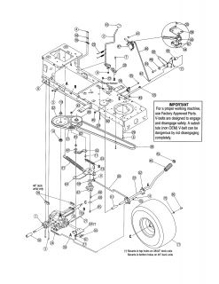 MTD Lawn tractor 38 deck Parts Model 13AC762F020 PartsDirect