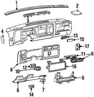 98 05 Chevy Blazer Bravada Sonoma S10 Dash Bezel Vent