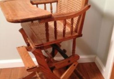 Antique High Chair Converts To Rocking Chair