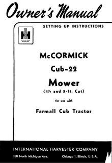 Farmall Cub / International Cub Belly Mower PTO Belt Guard