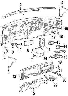 97 98 99 Dodge Dakota interior dash fuse box cover