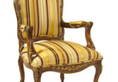 Blue Bergere Chair