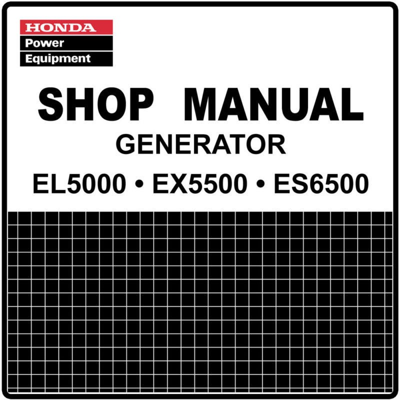 Honda EL5000 ES6500 EX5500 Generator Service Repair Manual