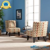 Set of 2 Sybilla Armless Accent Chairs with Pillows Living ...