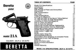 BERETTA MODEL 950 MODEL 950B MODEL 950BS JETFIRE FULL