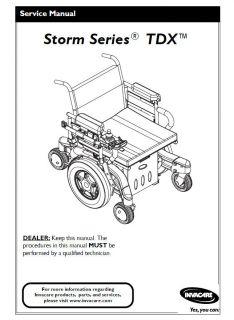Invacare Pronto M91 M94 Power Wheelchair Technical Service