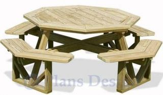 Round Picnic Table Built Around Tree 1946 How To Plans