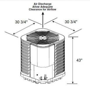 Goodman Central Air Conditioner, CK30 1B,2.5 TON,30,000