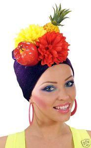 Carmen Miranda Fruit Bowl Hat Brazilian Fancy Dress