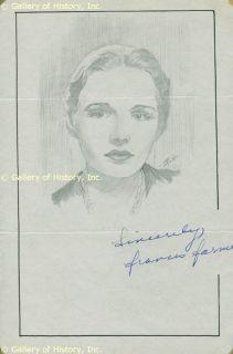 Frances Brundage Original Old Framed 1900 Flue Cover