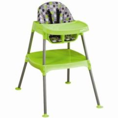 Evenflo Modern 200 High Chair Baby Bamboo Convertible Dottie Lime Boy Brand New Free