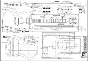 Full Scale Plans for the Gibson Eds1275 Double Neck