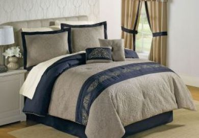 Navy Blue And Tan Bedding