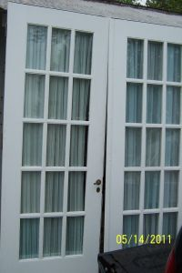 Interior French Double Doors 5 Foot Bevelled Glass