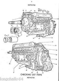 ROLLS ROYCE MERLIN V 1650 PACKARD 28 Engineering Drawing