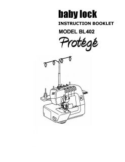Baby Lock Serger Model BLSE300 QTS Special Edition 4/3/2