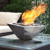 Outdoor Gas Fireplace Fire Pit Patio Heater Propane Bowl ...
