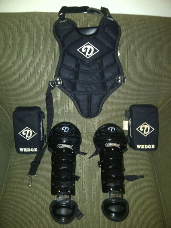 Diamond Youth Baseball Catcher Protective Gear Lot Chest